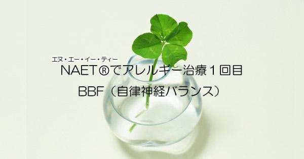アレルギー治療NAET一回目:BBF(自律神経バランス)施術に行ってきた