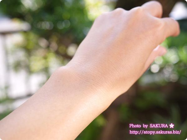 Fam's Baby(ファムズベビー)  手の甲に塗っていたところ、すごくしっとり